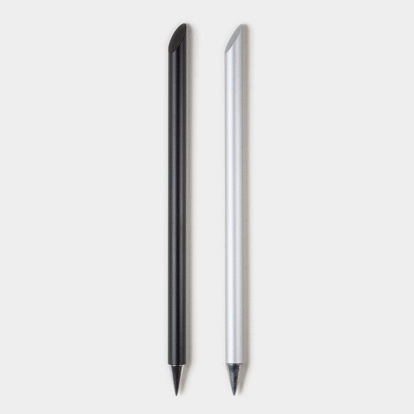 """The Inkless Metal Pen by Jac Zagoory - An inkless metal pen that never runs out of """"ink."""" $30"""
