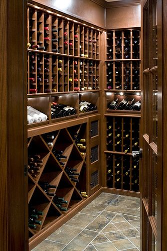 Vigilant custom wine cellars and wine rooms photo gallery. View photos of our wine cellar projects. We build them in New England to your exact ... & 16 best Wine storage images on Pinterest | Wine cellars Kitchen ...