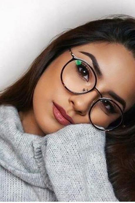 8e080b3800 Unisex full frame mixed material eyeglasses