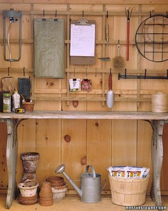 "See the ""Trellis Organizer"" in our Garage and Shed Organizing Ideas gallery"