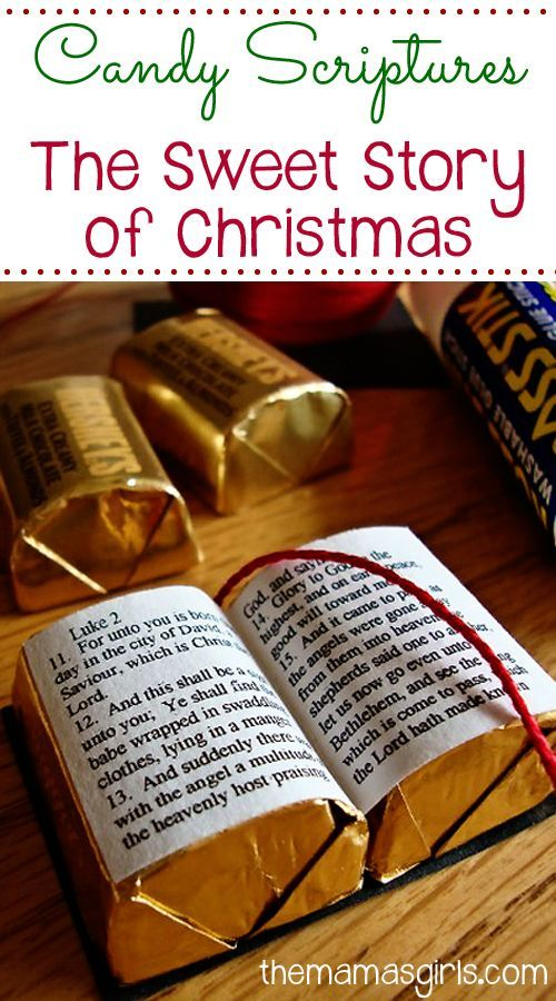 Candy Scriptures~~I made up a few to give away and have put together the instructions on how I made mine. I have also attached a pdf printable with the tiny little scripture story of Jesus' birth found in Luke 2: 11-14. Click on the link at the bottom of the page to download it and print it.