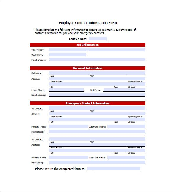 Mer enn 25 bra ideer om Emergency contact form på Pinterest - Information Form Template