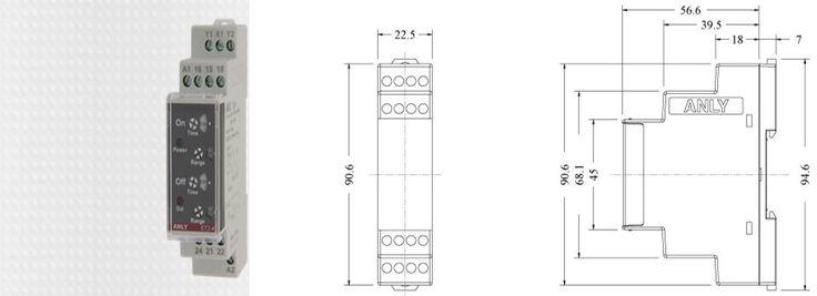 Et2 41 Ac Dc 24v 240v 5a 60s Anly Time Relay 2 From C New And Original Acdc Et2 Electrical Equipment