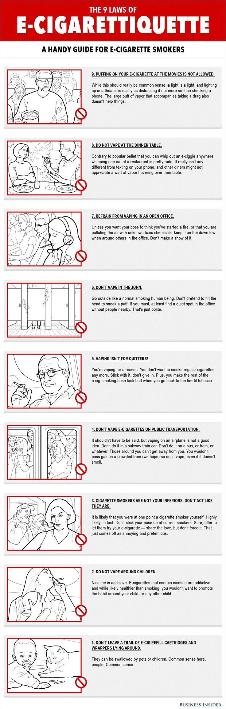 9 Laws Of E-Cigarettiquette