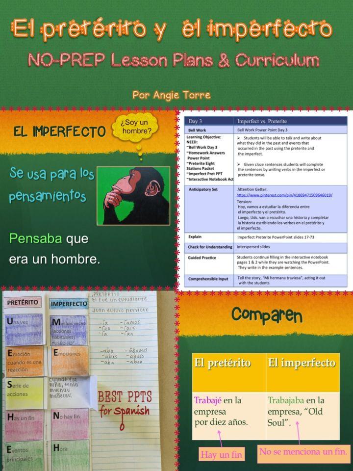 Spanish Preterite Imperfect NoPrep Lesson Plans and