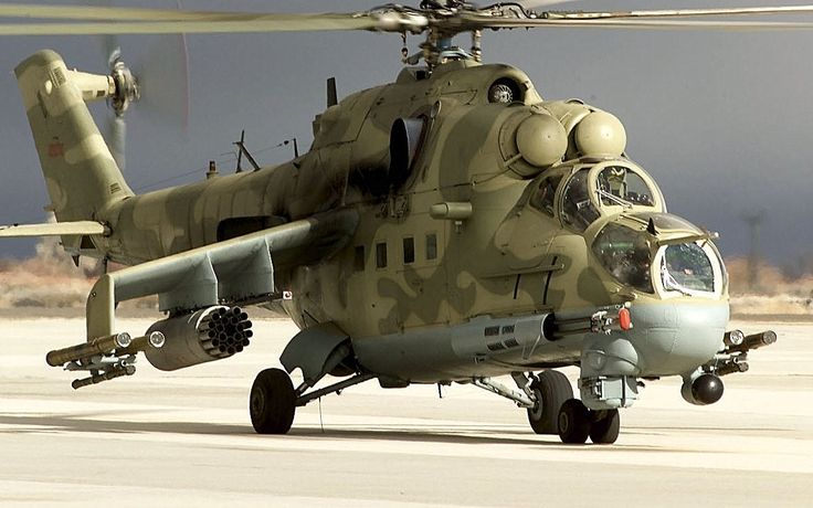 Mi 24 Hind D helicopter in Russian Service