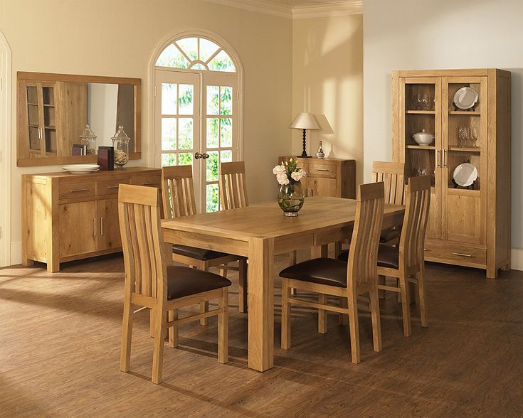 99 Light Oak Dining Room Chairs Table