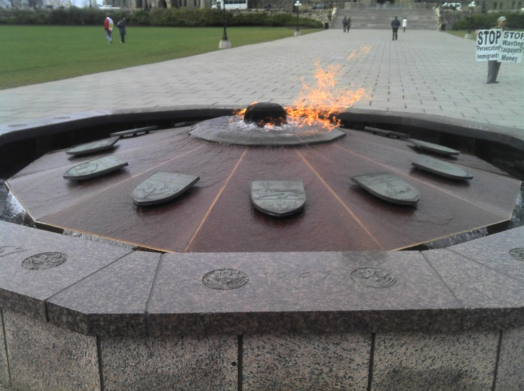 Canada's eternal flame.