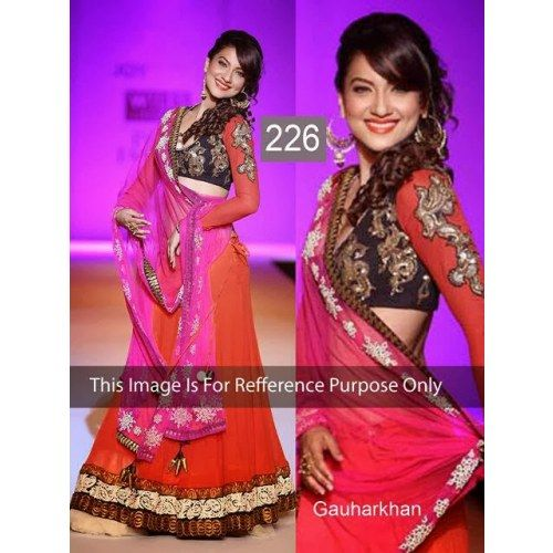 New Bollywood Actress Stunning Replica Looking Sizzling Lengha Choli Saree sari