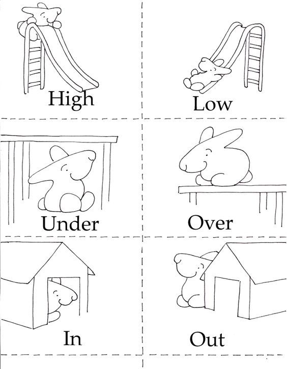 Opposites Matching Game, is also a coloring sheet and little book FREE from the LIttle Bunny series!
