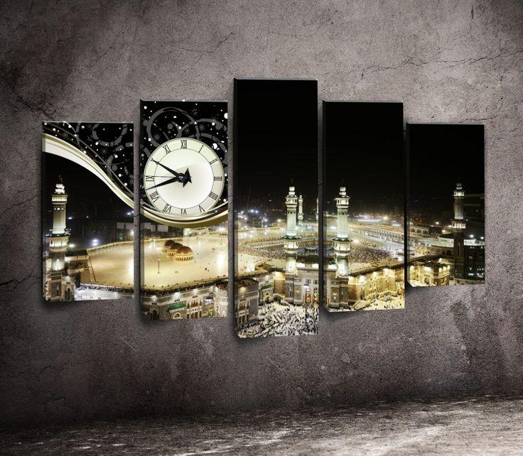 5 Parça Kabe Manzaralı Kanvas Tablo