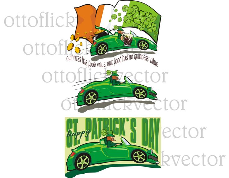 ST. PATRICK'S DAY vector clipart, happy irish leprechaun with mug, eps, ai, cdr, png, jpg files for vector graphics, printable card and more by ottoflickvector on Etsy