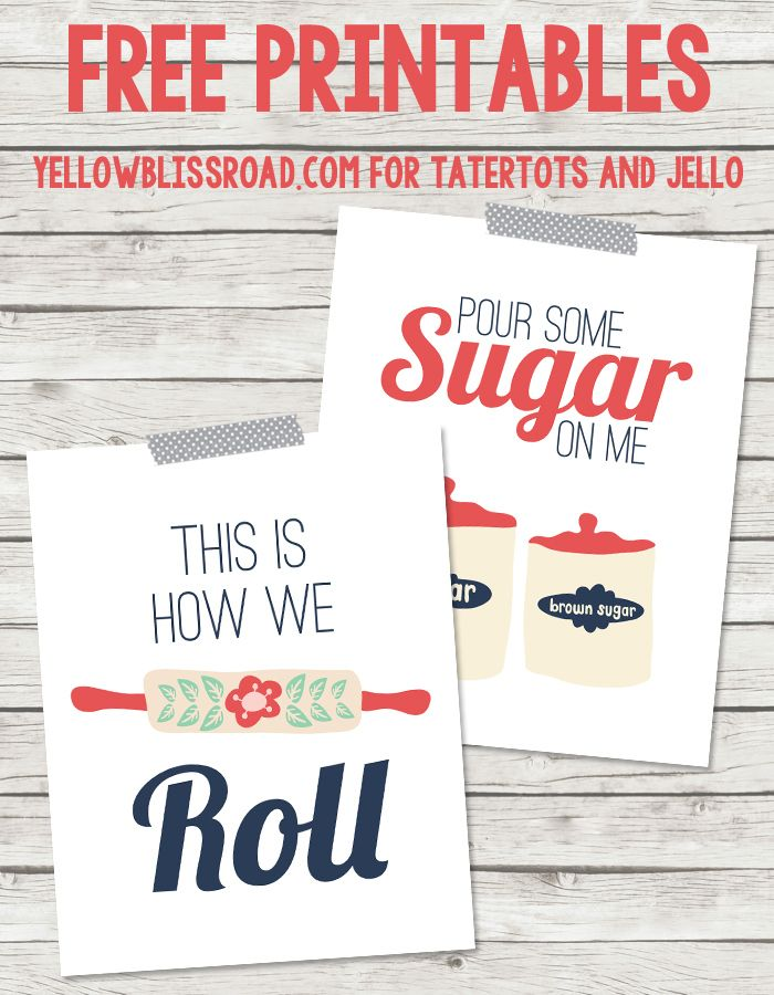 Free #Printables for the #Kitchen by @YellowBlissRoad