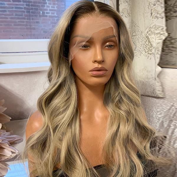 Balayage Light Ash Brown Color Glueless Lace Wig In 2021 Human Hair Wigs Blonde Lace Wigs Wig Hairstyles