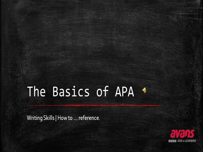PPT with voice-over / APA - made for ASIS Students