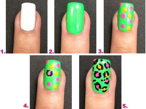 Get neon leopard nail art in 5 easy steps!