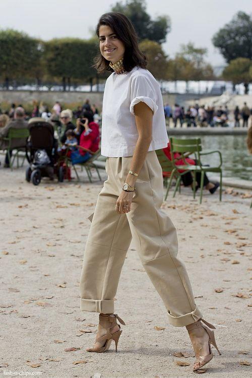 Leandra working neutrals. Paris. #LeandraMedine #ManRepeller