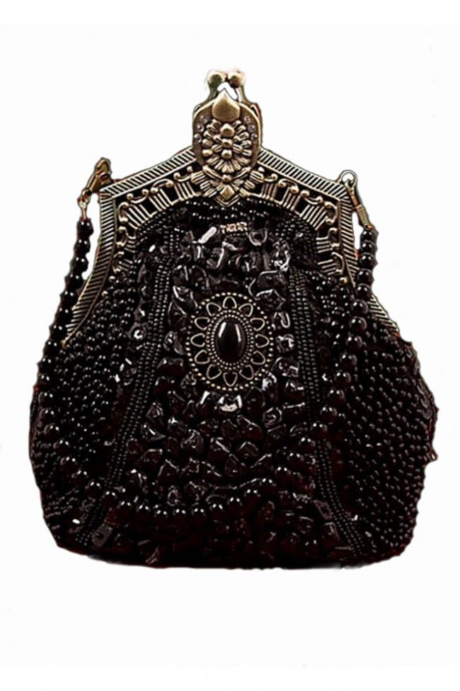beautiful beaded,victorian inspired handbag <3
