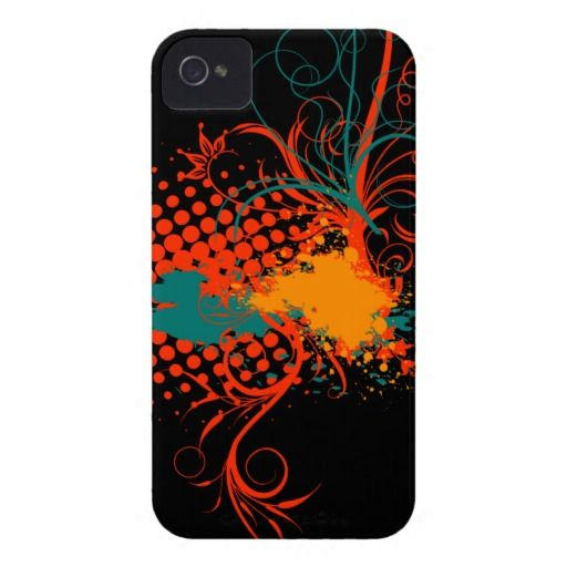 Abstract floral ornaments iPhone 4 cover