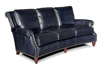 midnight blue leather 3 seater sofa couch