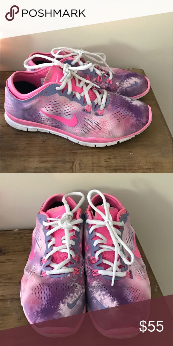 Nike Free gymshoes size 7.5 Worn for a couple of months but I'm GREAT condition. Adorable on! Nike Shoes Athletic Shoes