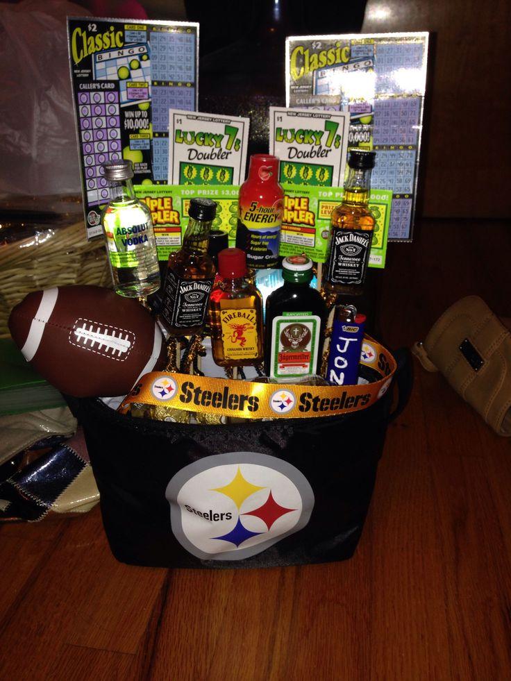 My first DIY gift ! Man gift .. Birthday gift .. Steelers