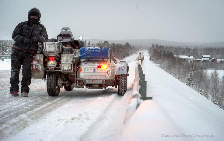 E8 north to Norway, Dec 2012.