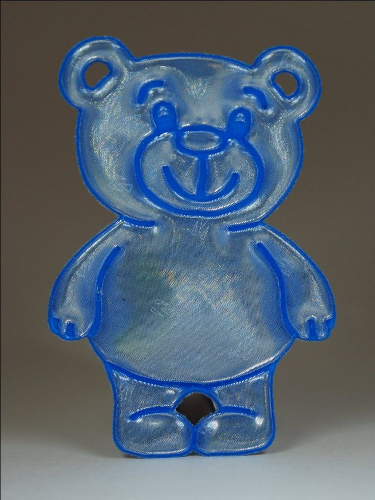 Cuddly blue soft teddy bear reflector (also available in pink) Comes with a blue ball chain.  Attach to bags, jackets or any other garments or equipment.   Approximately 85mm high and 40mm wide.   For maximum visibility place on the front, side or back of your body. Allow your reflector to move freely at knee length to catch the headlights of moving vehicles.