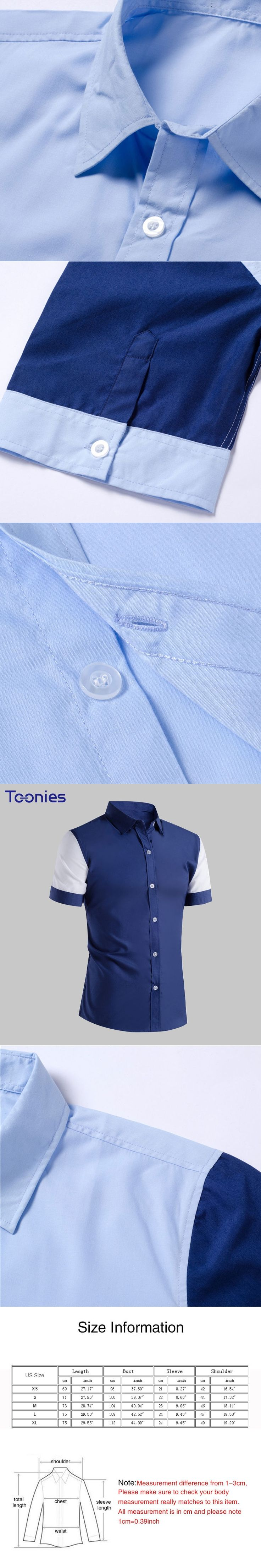2018 New Fashion Mens Casual Blazer Shirt Male Short Sleeve Patchwork Camisa Masculina Para Hombre Blouse Chemise Homme Clothing