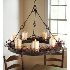 The 25 best hanging candle chandelier ideas on pinterest diy metal hanging candle chandelier and led pillar candles plow amp hearth mozeypictures Images