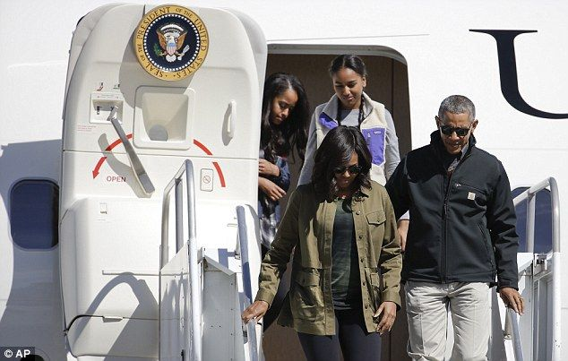 DAY OUT:President Barack Obama and his family are now on a hiking trip at the foothills of the Andes Mountains in Argentina