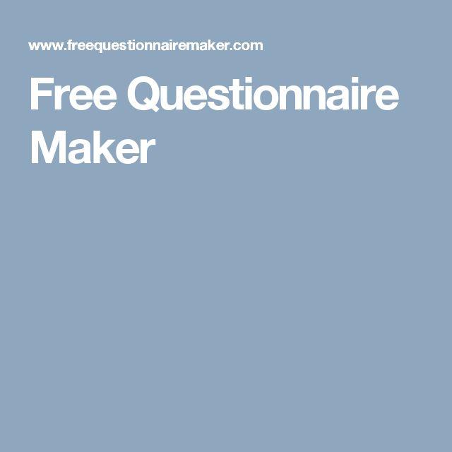 25+ best Questionnaire maker ideas on Pinterest | Kids birthday ...