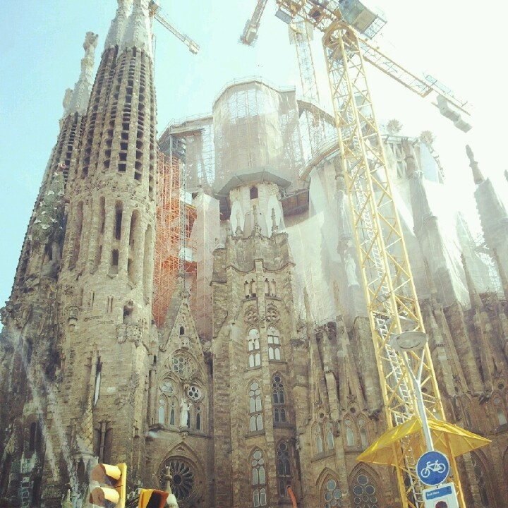 Barcelona Spain Sagrada familia Gaudi Modernisme