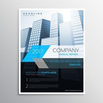 Apresentação cover modelo de relatório anual folheto