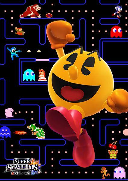 Pac-Man....Now all four are here! Nintendo, Namco, Capcom, and Sega! Yay! I wish Klonoa was here....