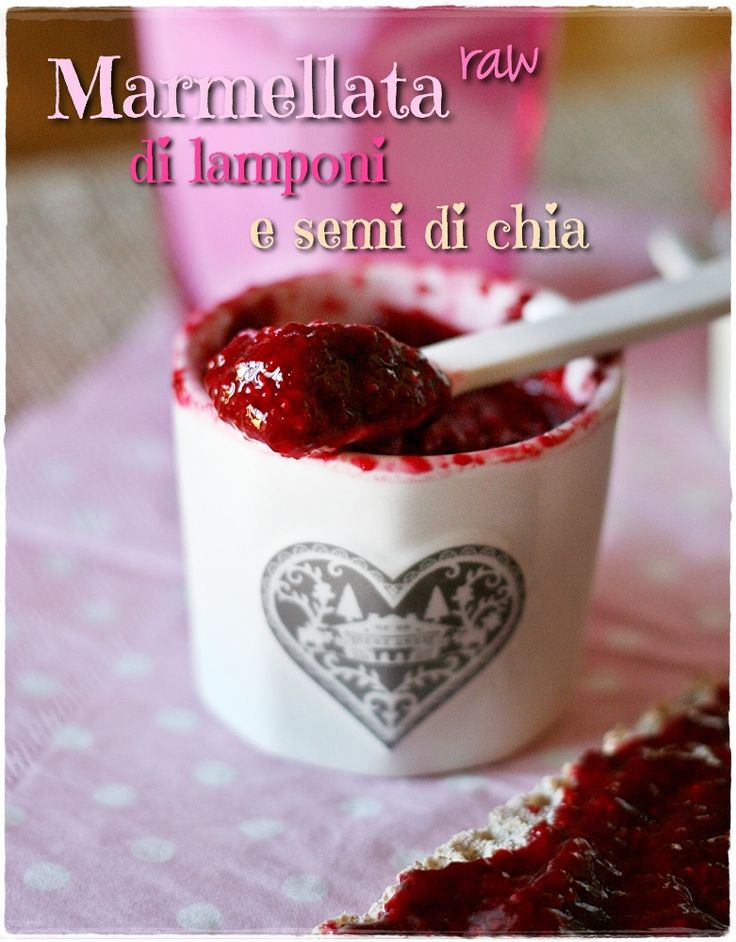 Marmellata raw di lamponi e semi di chia – Raspberry and chia seeds raw jam
