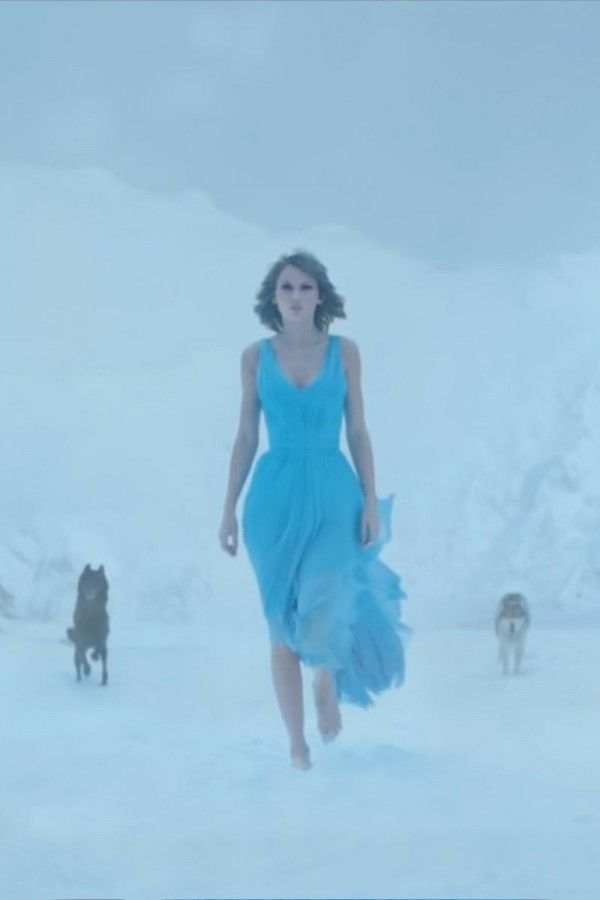 9fb79f05fe Taylor Swift Blue Homecoming Dress In Video Film Clip Out Of The Woods