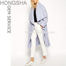 Woman Wool Coat 2015 Blue Waterfall Drape Overcoat Winter Coats HSC2020  Best Buy follow this link http://shopingayo.space