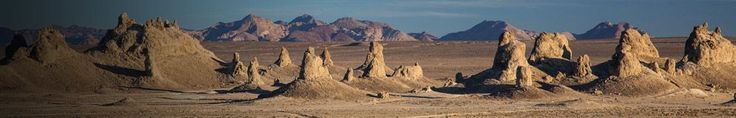 The Trona Pinnacles is one of the most unusual geological features in the California Desert Conservation Area. They now sit isolated and slowly crumbling away near the south end of the valley, surrounded by many square miles of flat, dried mud and with stark mountain ranges at either side. #camping