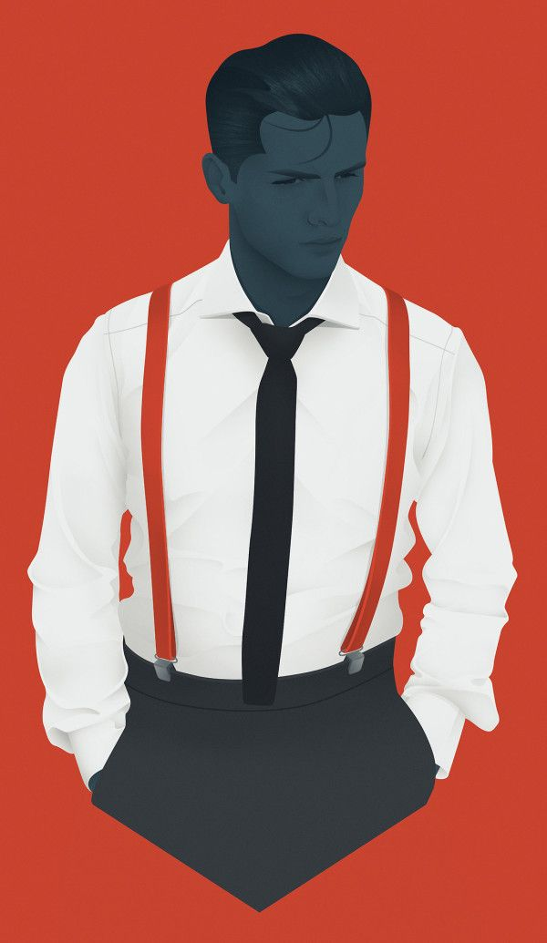Mod Men Illustrations by Jack Hughes | Trendland