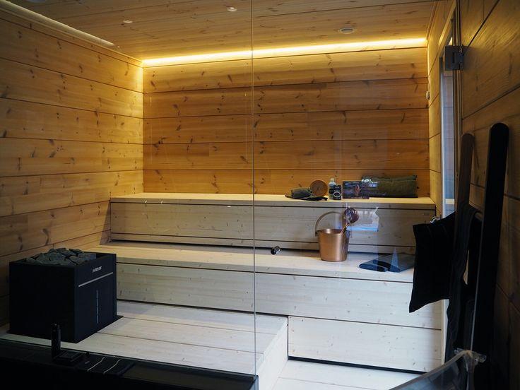 Sauna kohteessa Honka Markki, Asuntomessut 2016 Seinäjoki