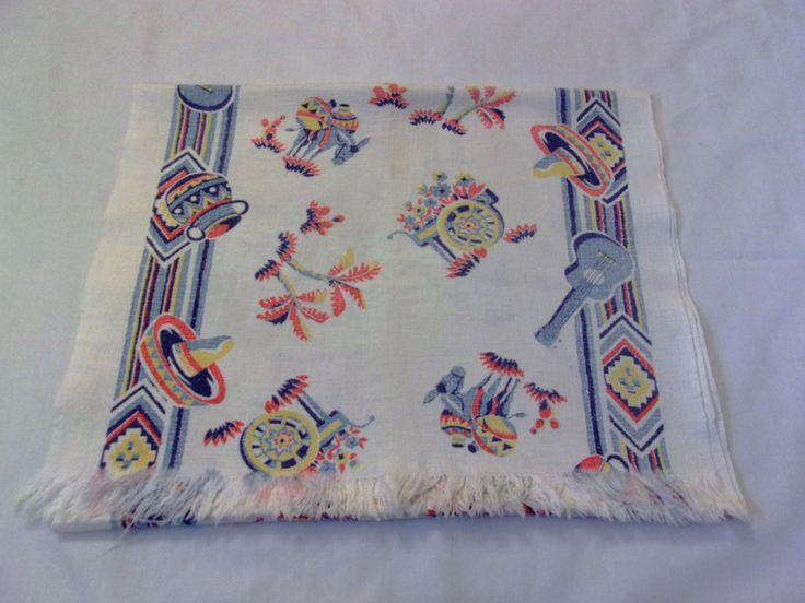 Vintage Southwestern Table Runner, Southwestern Themed Table Runner, 1950s Table Linens by VintagePlusCrafts on Etsy