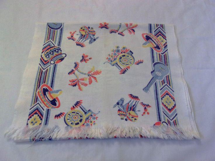 Vintage Southwestern Table Runner, Southwestern Themed Table Runner, 1950s Table Linens by VintagePlusCrafts on Etsy