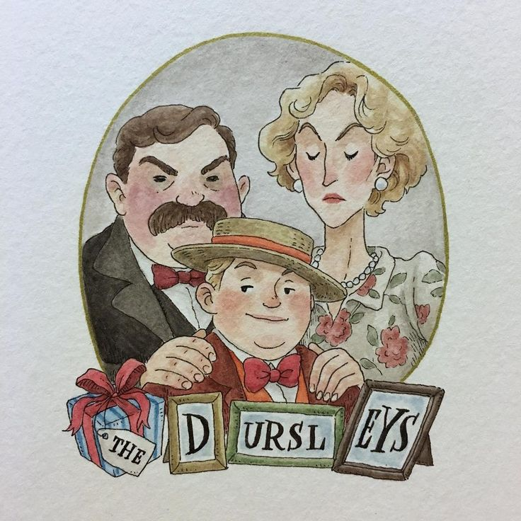 Uncle Vernon, Aunt Petunia, and Dudley--better known as Ickle Diddykins #thedursleys