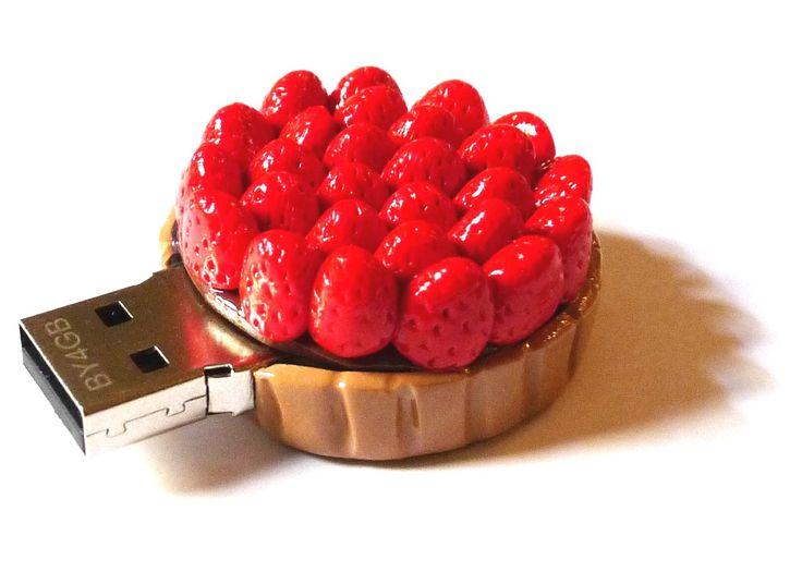 Clé USB tarte aux fraises 4GO