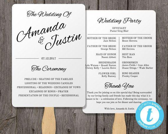 The 25+ best Fan wedding programs ideas on Pinterest   Beach ...