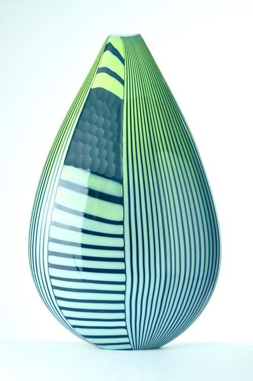 David Calles Art Glass | David Calles Vetri Blue+Green Glass Vessel<3<3<3