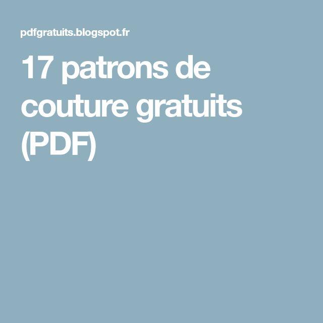 17 patrons de couture gratuits (PDF)