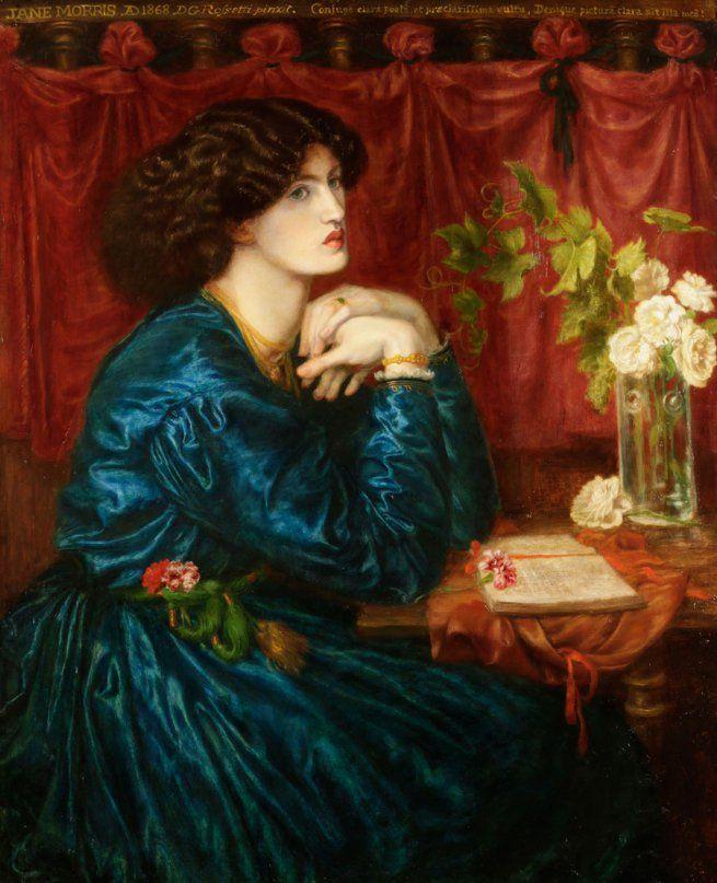 pre-raphelite: Dante Gabriel Rossetti. 'Jane Morris, the blue silk dress' 1868