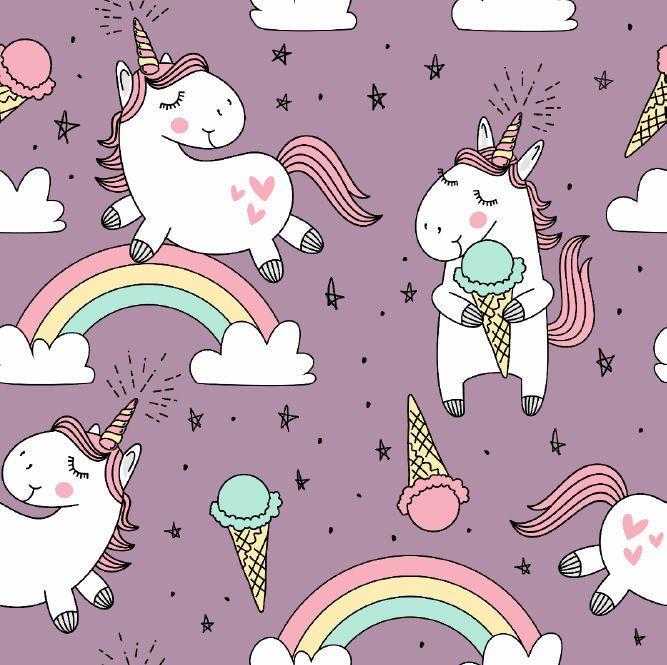 Tygdrömmar Ice Cream Unicorn Trikoo, Lavendel | Единорог
